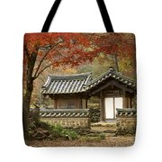 Seonamsa In Autumn Tote Bag