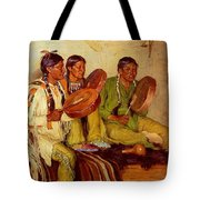 Sharp Joseph Henry Hunting Song Taos Indians Joseph Henry Sharp Tote Bag