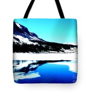 Shiny Snow Magic On Lake Tote Bag