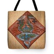 Silence - Tile Tote Bag