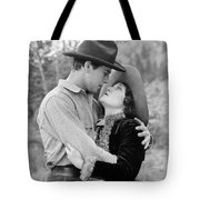 Silent Still: Hand Kissing Tote Bag