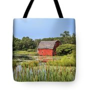 Sinking Red Barn #6 Tote Bag