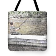 Sitting On The Dock  Tote Bag