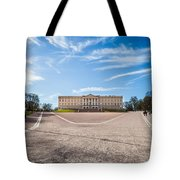 Slottet, The Royal Palace In Oslo, Norway Tote Bag