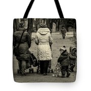 Small Child Looking Backward Tote Bag