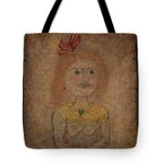 Small Portrait Of A Girl In Yellow Tote Bag