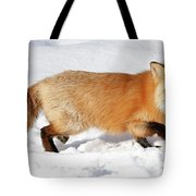 Sneaky Red Fox Tote Bag