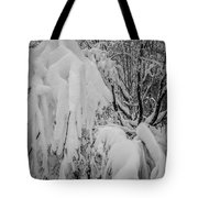 Snow Covered Trees In The North Carolina Mountains During Winter Tote Bag