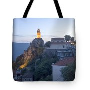 Spectacular Meteora Rock Formations Tote Bag