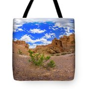 Spherical Panorama From A Canyon Charyn Tote Bag
