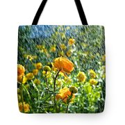 Spring Flowers In The Rain Tote Bag