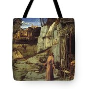 St. Francis In The Desert Tote Bag
