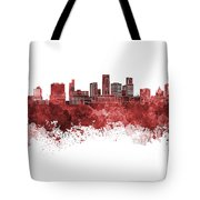 St. Paul Skyline In Watercolor Background Tote Bag