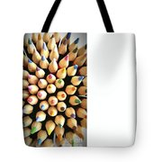 Stack Of Colored Pencils Tote Bag