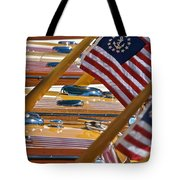 Stars And Stripes On The Water Tote Bag
