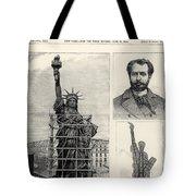 Statue Of Liberty, 1885 Tote Bag