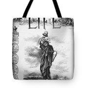Statue Of Liberty Cartoon Tote Bag