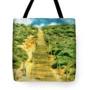 Steps To The Beach Tote Bag