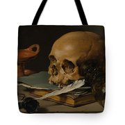 Still Life With A Skull And A Writing Quill Tote Bag
