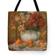Still Life With Flowers And Prickly Pears Tote Bag