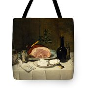 Still Life With Ham Tote Bag