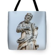 Stone Statue In The Old Town Perast  Tote Bag