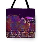 Stork Bird Fly Plumage Nature  Tote Bag