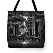 Storm Over Frankfurt Tote Bag