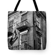 2 Story Building New Orleans Black White  Tote Bag