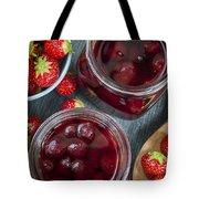 Strawberry Preserve Tote Bag
