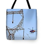 Stringing Power Cable By Helicopter Tote Bag