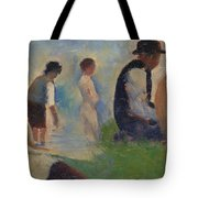 Study For Bathers At Asnieres Tote Bag