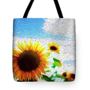 Sunflowers Abstract Tote Bag