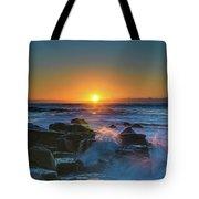 Sunrise And The Sea Tote Bag