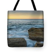 Sunrise On The Rocky Coast Tote Bag