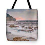 Sunrise Seascape And Headland Tote Bag