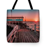 Sunset At Langedrag, Gothenburg Tote Bag