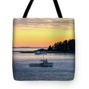 Sunset Down East Maine Tote Bag
