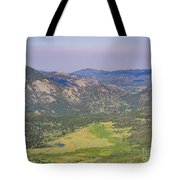 Superb Landscape In Rocky Mountain National Park Tote Bag