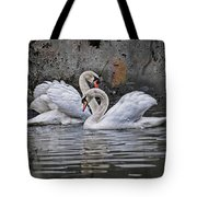 Tango Of The Swans Tote Bag