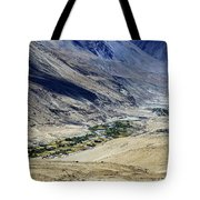 Tangsey Village Landscape Of Leh Ladakh Jammu And Kashmir India Tote Bag