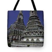 Temple Detail In Bangkok Thialand Tote Bag