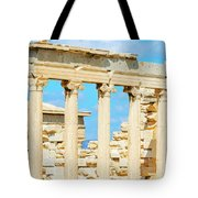 Temple Of Athena Nike In Greece Tote Bag