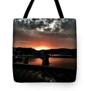 Tennessee River Sunset Tote Bag