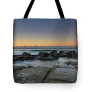 Tessellated Rock Platform And Seascape Tote Bag