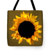 Sunflower Stretching On Brown Tote Bag