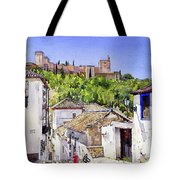 The Alhambra From The Albaicin Tote Bag