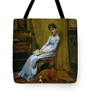 The Artist's Wife And His Setter Dog Tote Bag