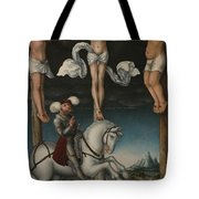The Crucifixion With The Converted Centurion Tote Bag