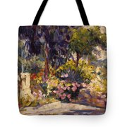 The Flowered Terrace Tote Bag